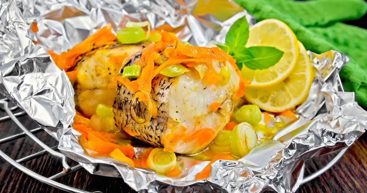 Фото Щука с овощами в духовке