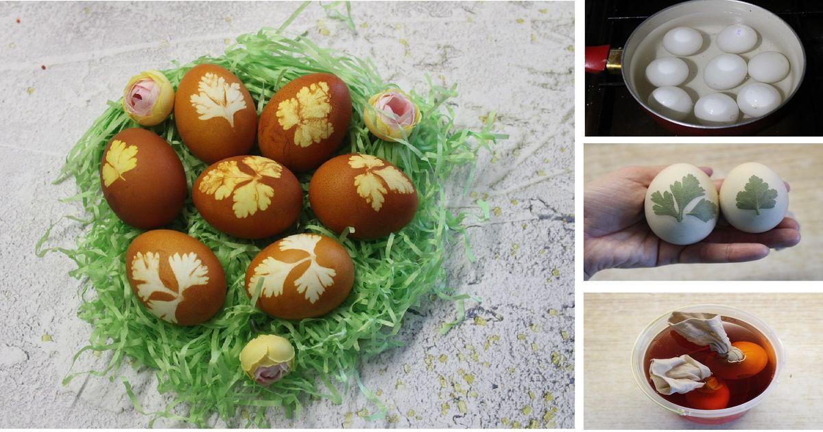 Фото Пасхальные яйца: пошаговый фото рецепт