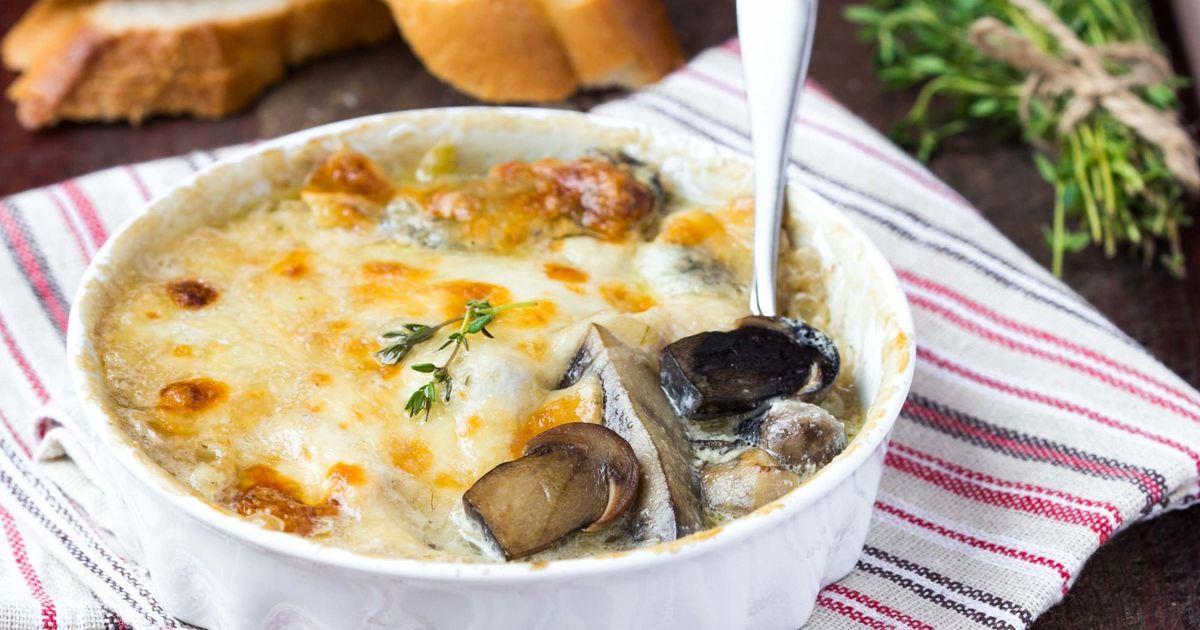 Фото Жюльен с грибами и картофелем