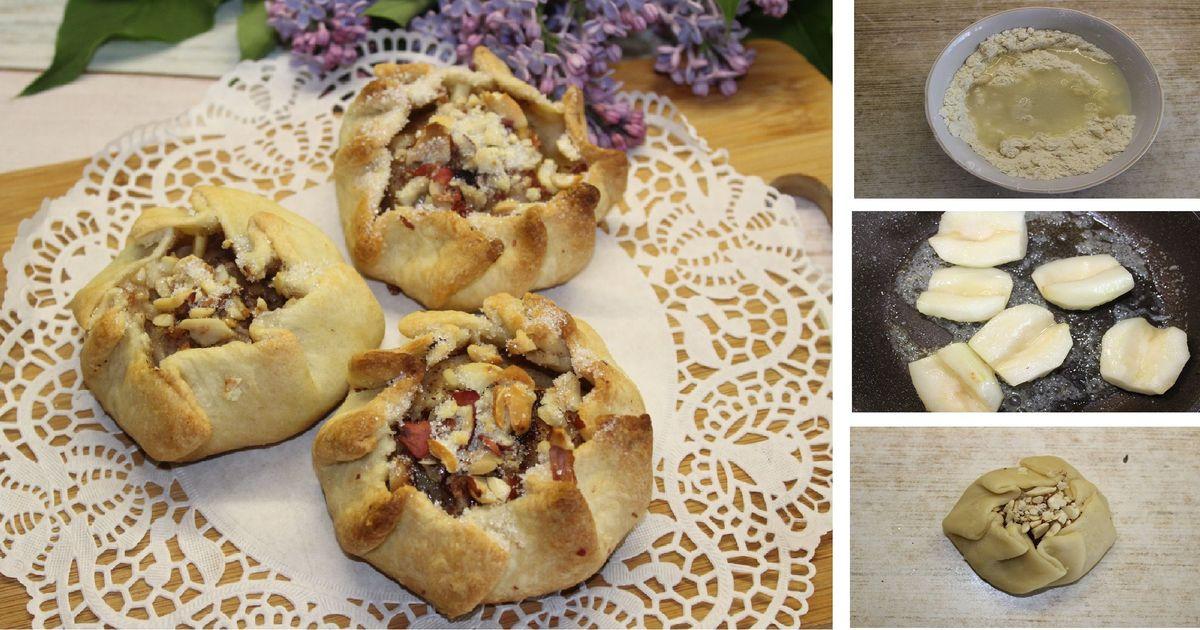 Фото Галета с карамелизованной грушей и орехами: пошаговый фото рецепт