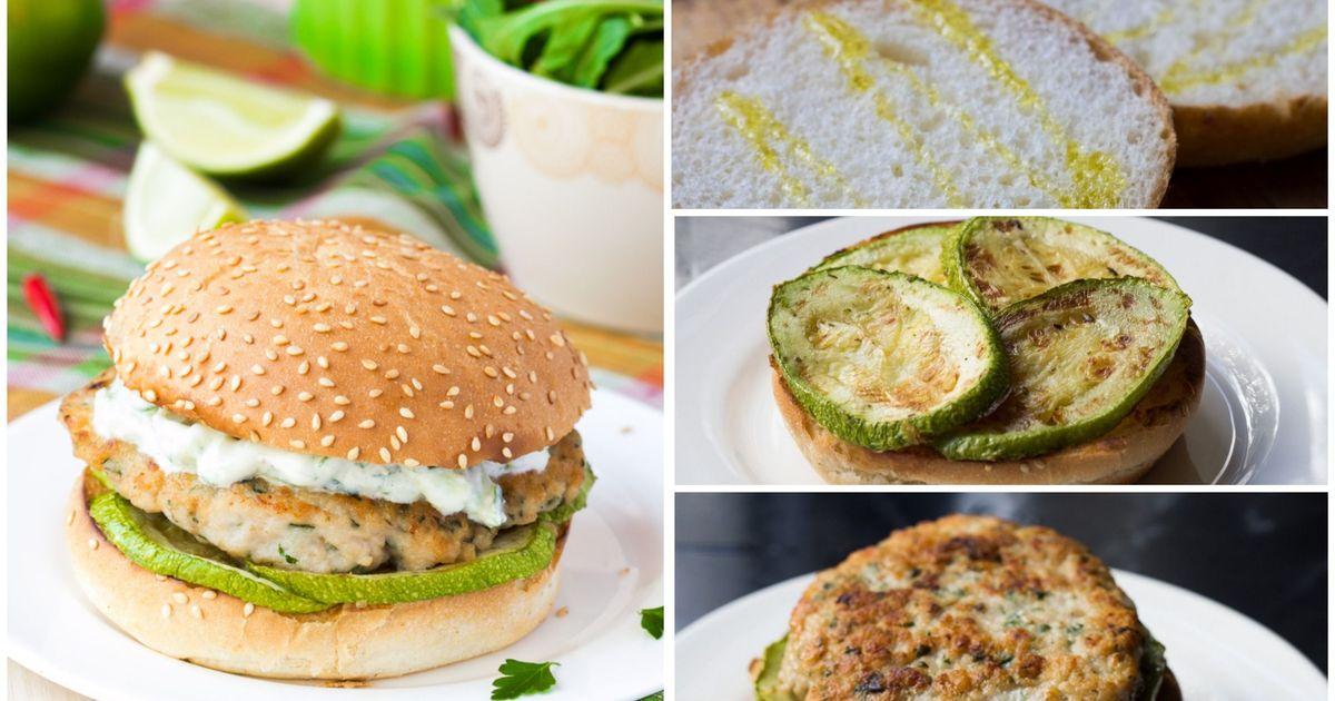 Фото Куриный бургер со сметанным соусом: пошаговый фото рецепт
