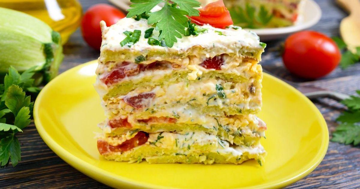 Фото Аппетитный кабачковый торт