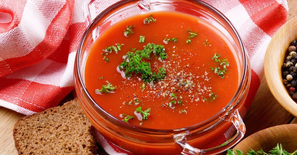 Фото Холодный томатный суп гаспачо