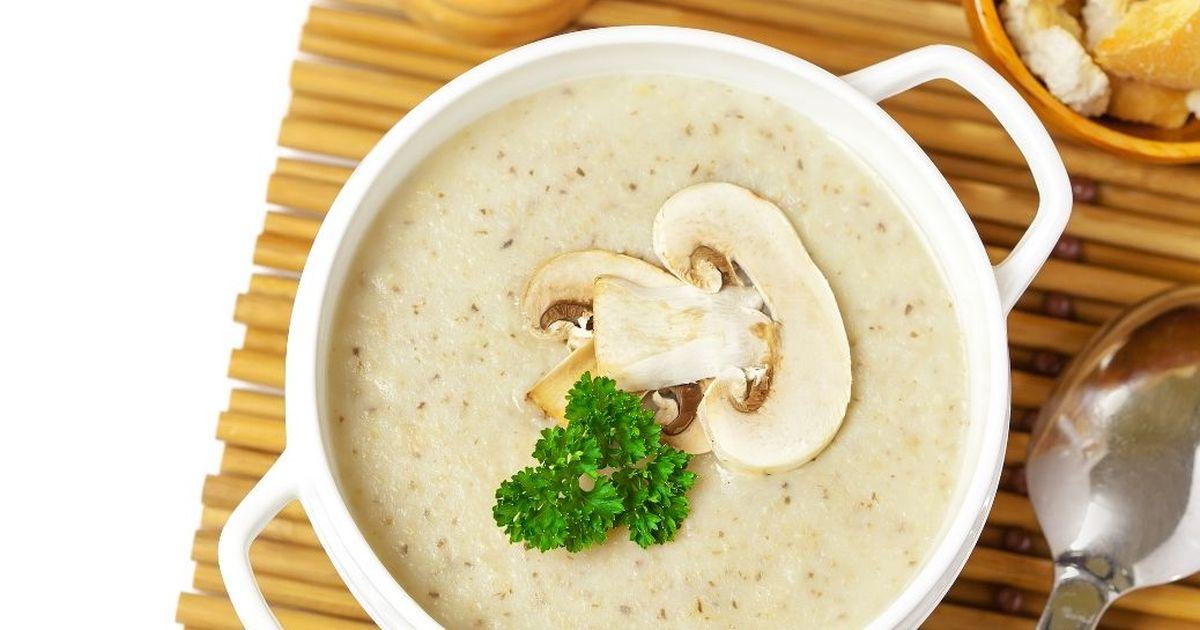 Фото Ароматный крем-суп из шампиньонов