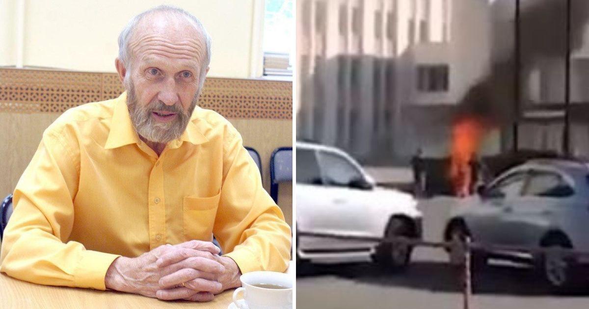 Фото В Ижевске 79-летний ученый сжег себя перед зданием Госсовета