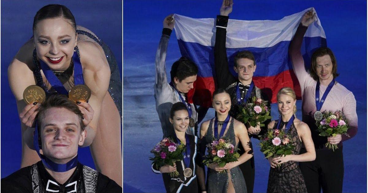 Фото Триумф. Россияне заняли весь пьедестал на чемпионате Европы в парном катании