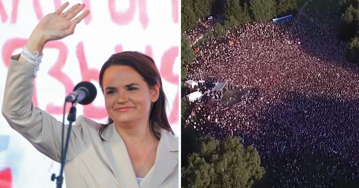 Фото Тихановская против Лукашенко: как прошел рекордный митинг в Минске