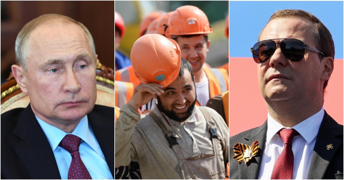 Фото Мигранты хотят поселиться в России навсегда. Медведев против, Путин - за