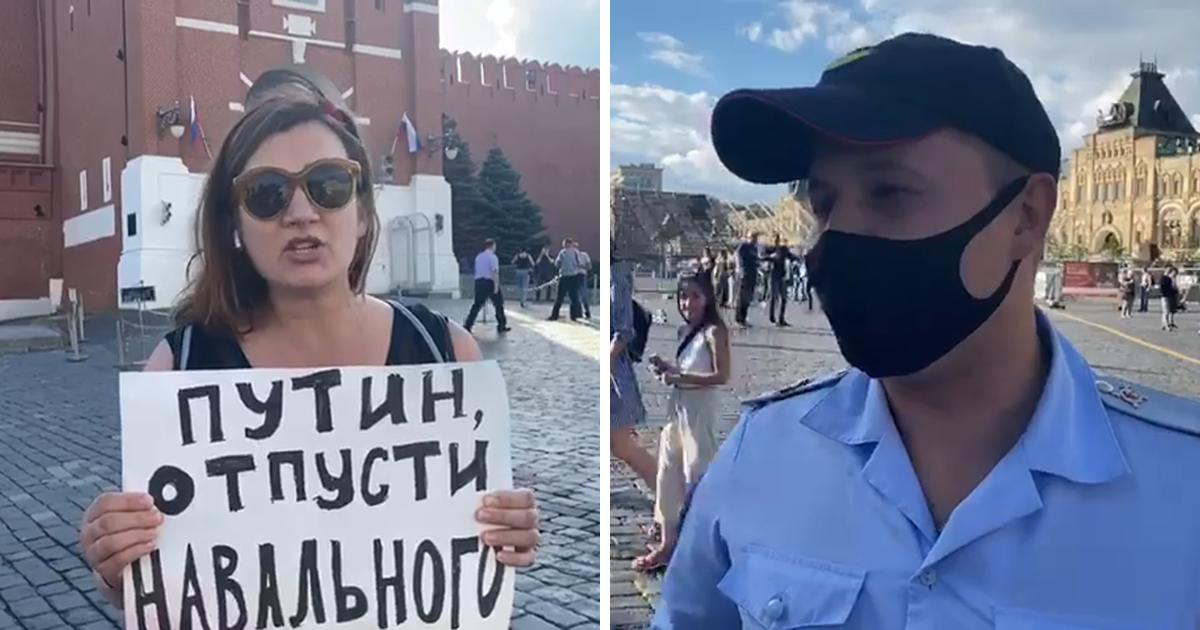 Фото Яну Троянову и её беременную коллегу задержали на пикете за Навального