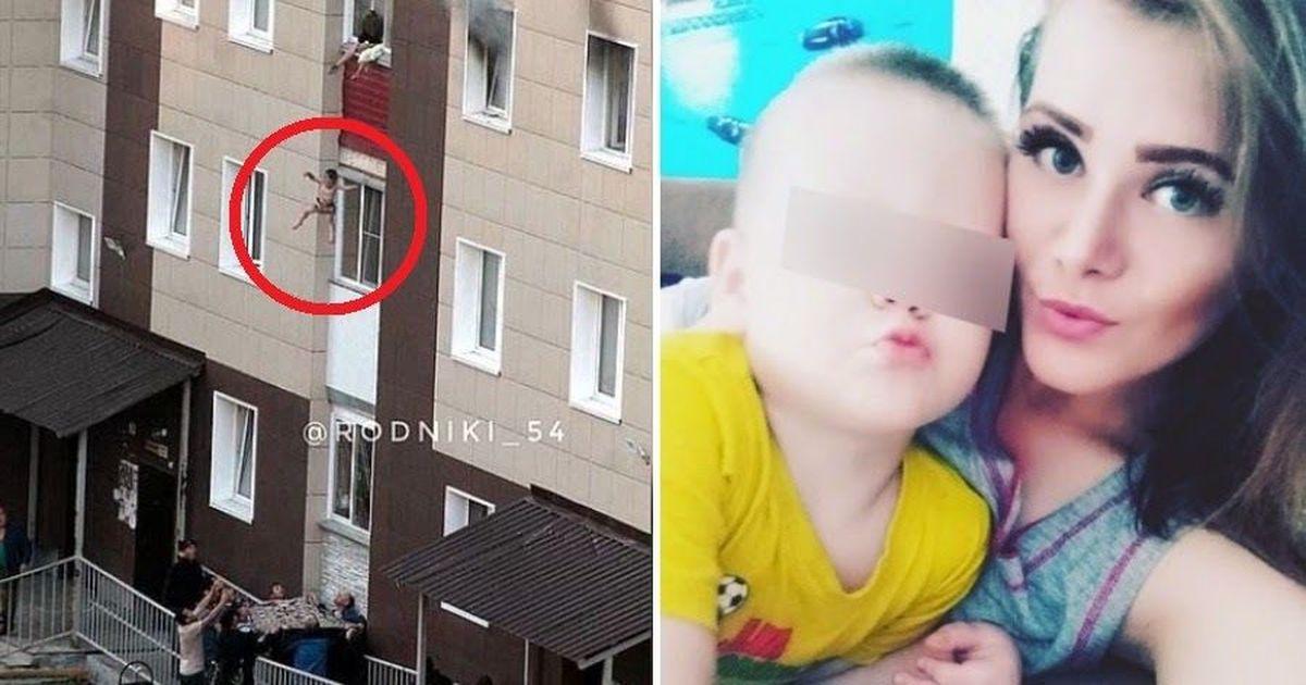 Фото Мать выбросила детей в окно из горящего дома. Их спасли рабочие