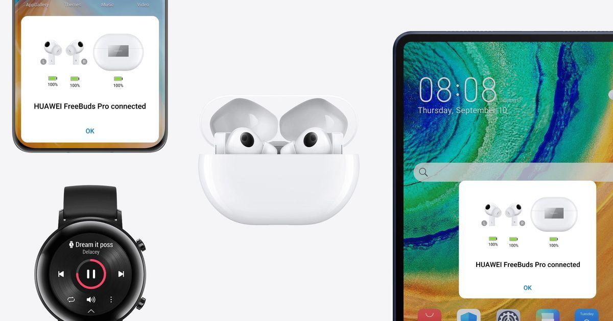 Фото Huawei официально представила TWS-наушники FreeBuds Pro