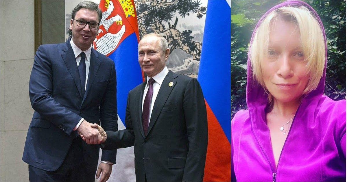 Фото Путин лично извинился перед Вучичем за поведение Захаровой