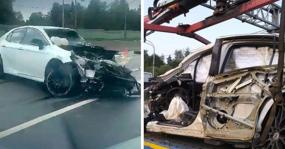 Фото 13-летний водитель на угнанной машине устроил аварию в Москве