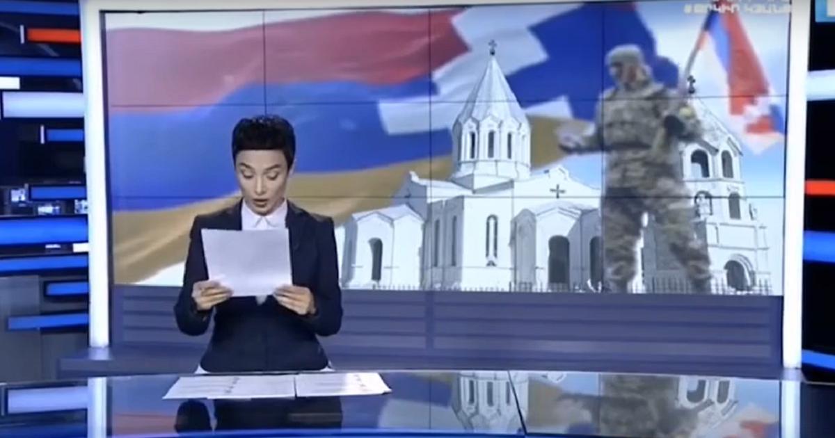Фото Ведущая армянского телевидения расплакалась в эфире