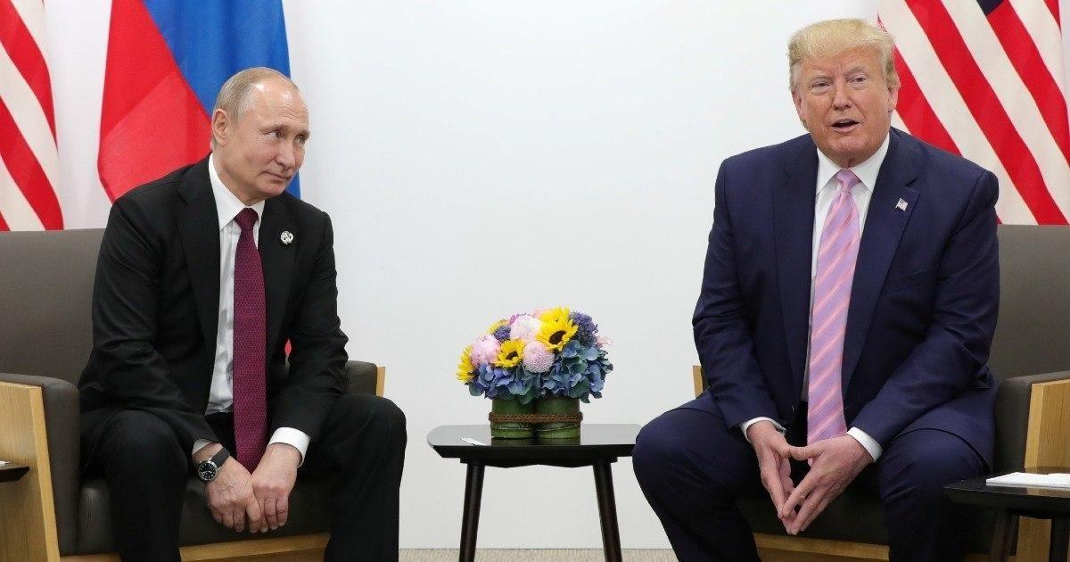 Фото Путин, Трамп и Макрон выступили с совместным заявлением по Карабаху