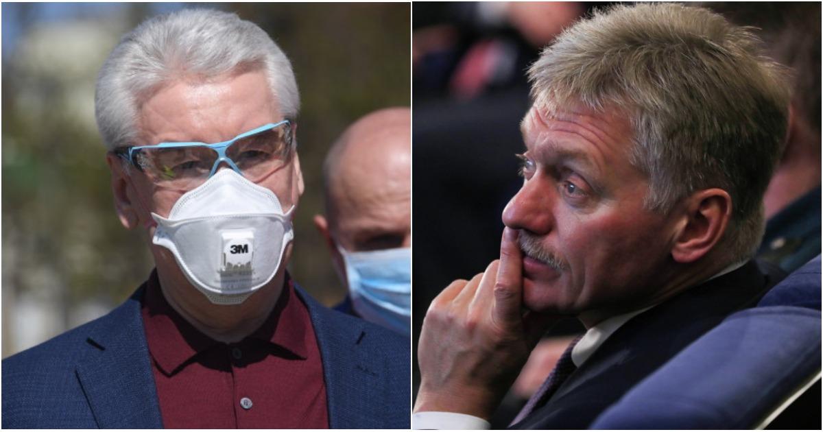 Фото Песков против Собянина: что не так с реакцией властей на коронавирус