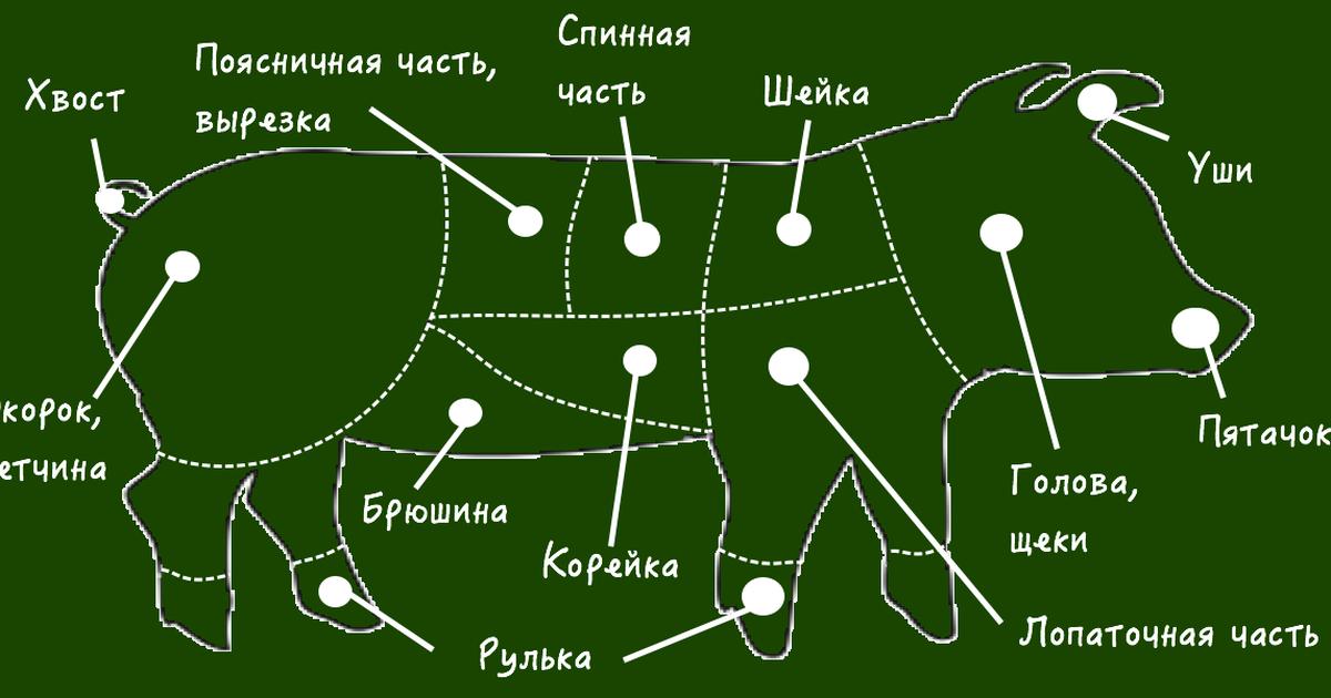 Фото Какую часть свинины для какого блюда использовать