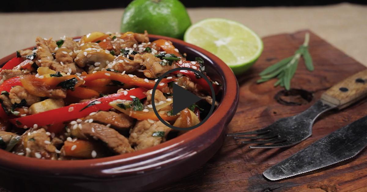 Фото Мясо стир-фрай: видео рецепт
