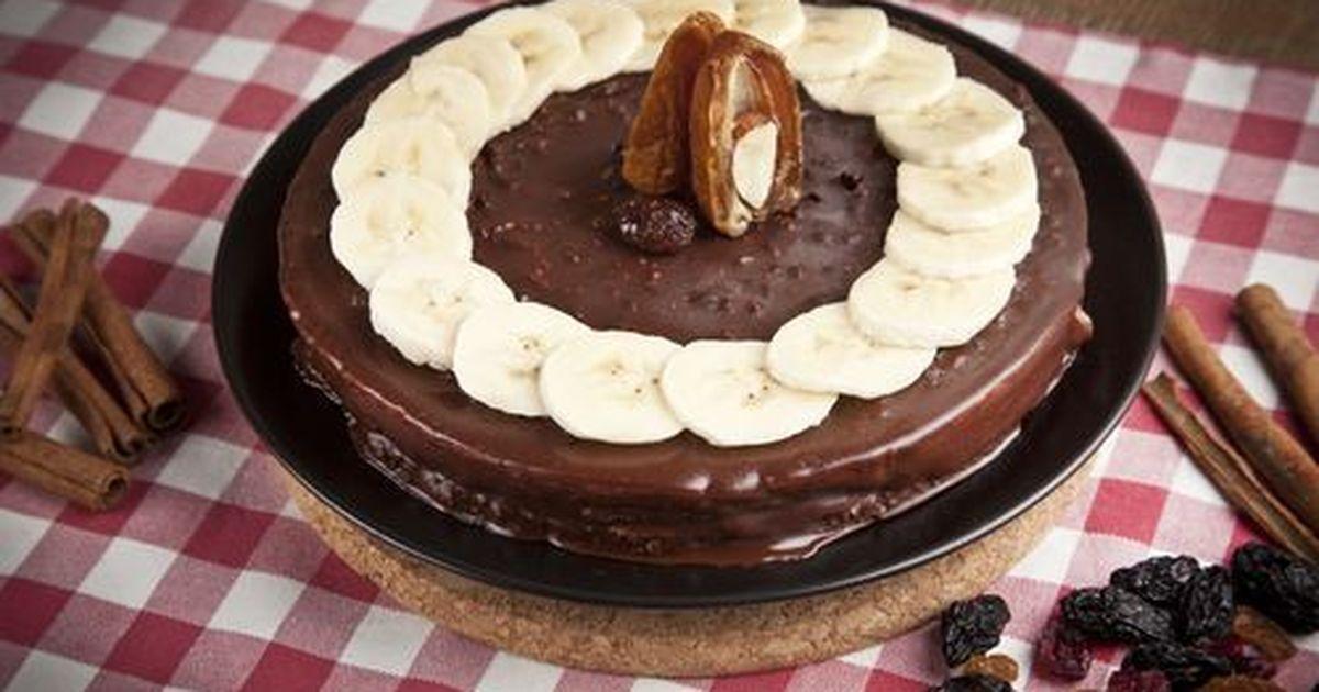 Фото Вкуснейший торт с бананами и шоколадным муссом
