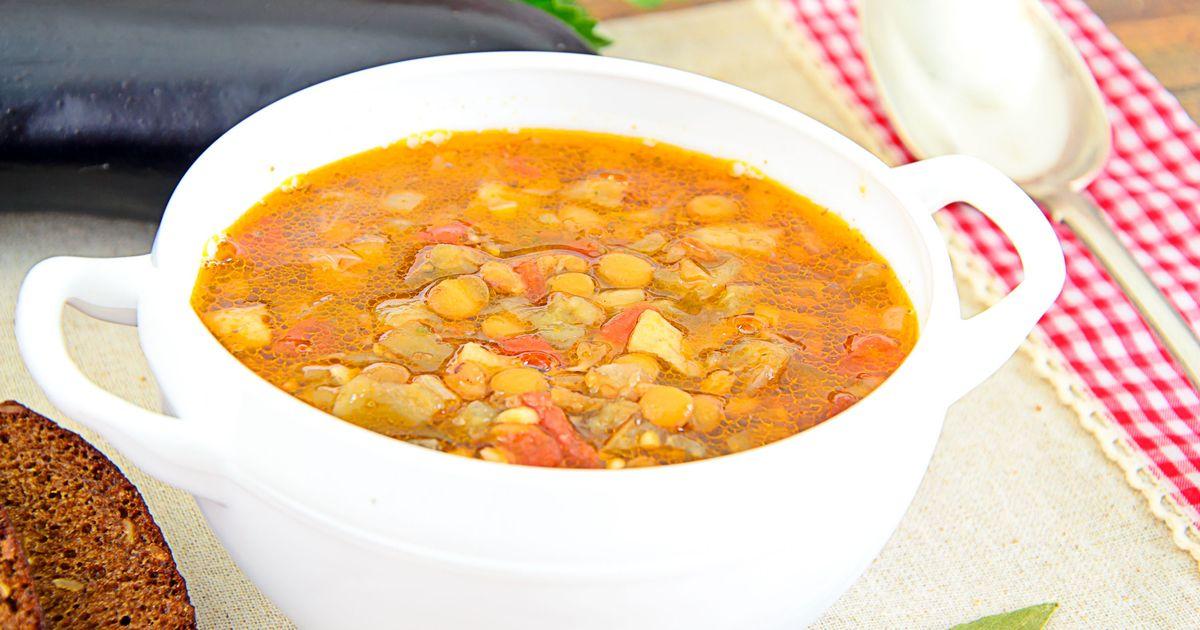 Фото Суп из чечевицы с мясом