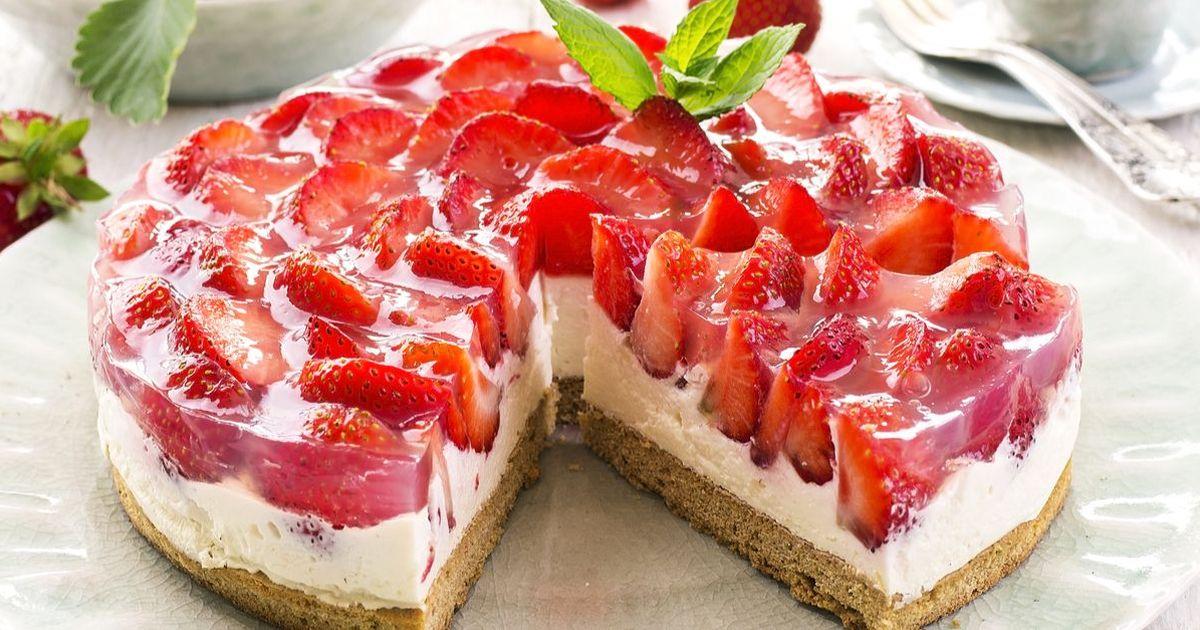 Фото Клубнично-творожный десерт
