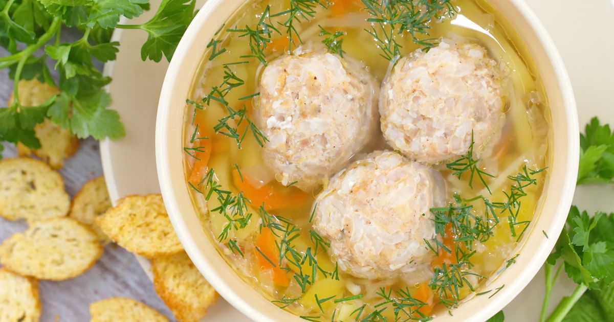 Фото Бабушкин суп с фрикадельками