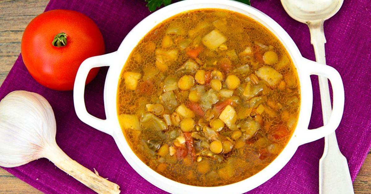 Фото Чечевичный суп с томатами