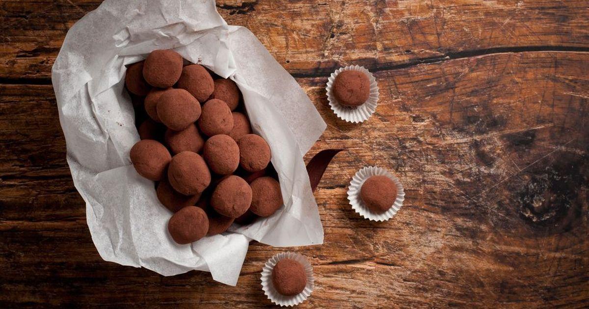 Фото Шоколадные трюфели в какао