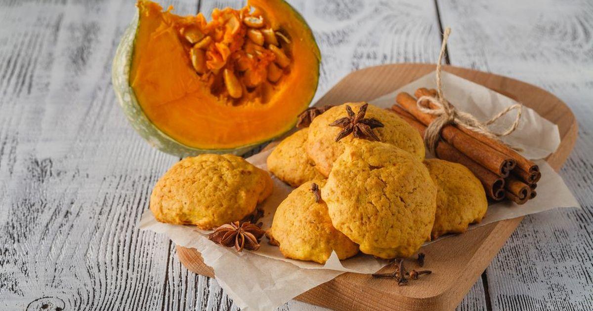 Фото Тыквенно-овсяное печенье