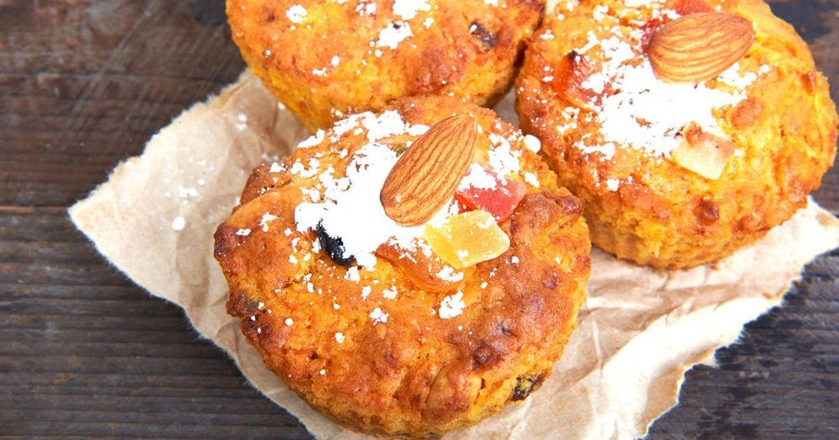 Фото Творожные кексы с яблоком и миндалем