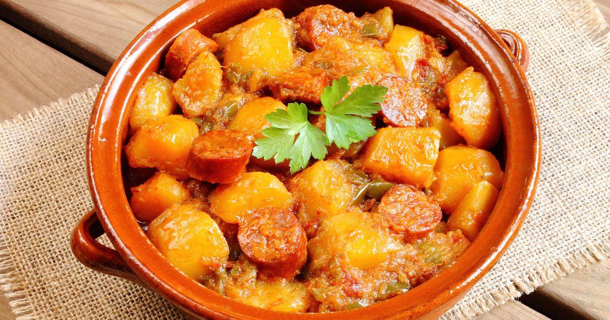 Фото Охотничьи колбаски с картофелем