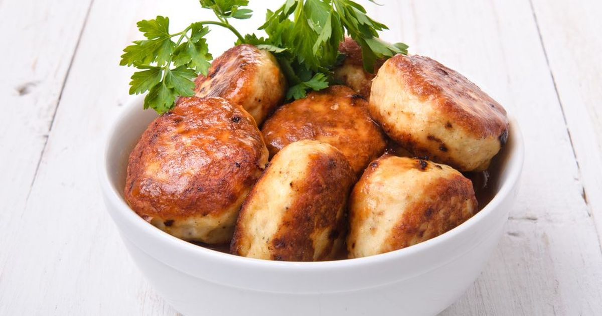 Фото Котлетки с куриным филе и творогом