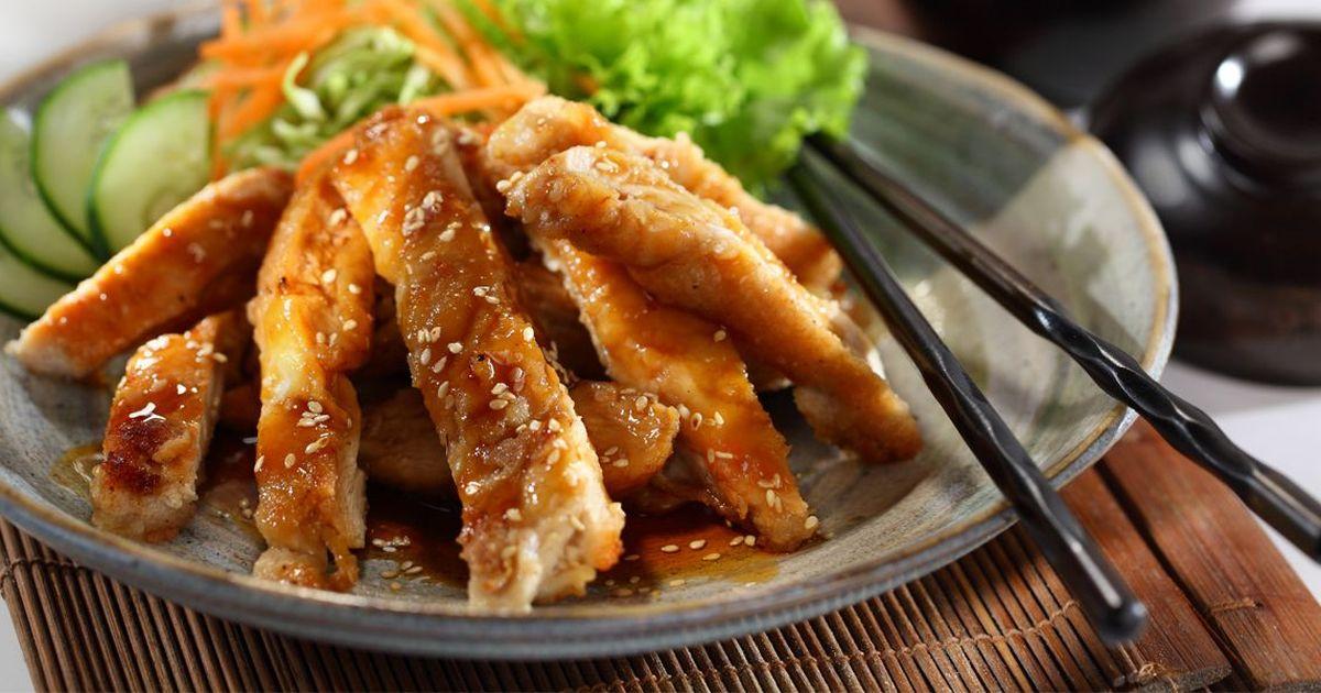 Фото Запеченная курица с соусом терияки