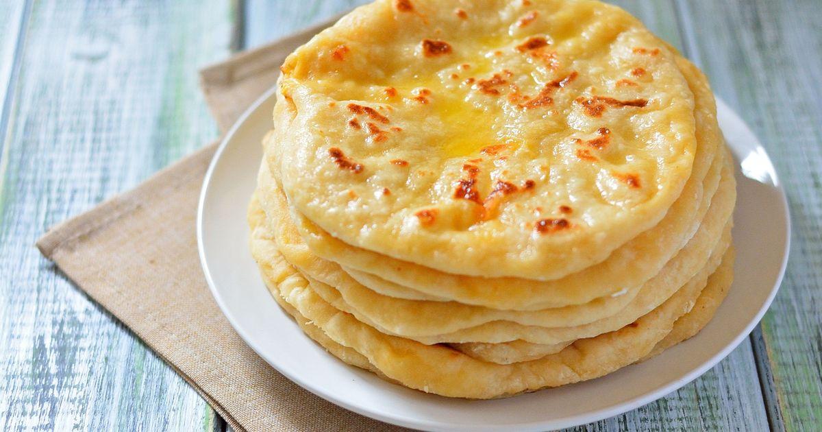 Фото Лепешка с сыром на кефире