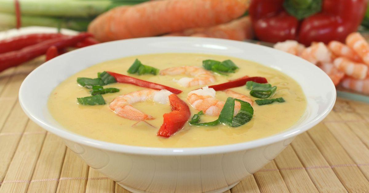 Фото Суп с креветками