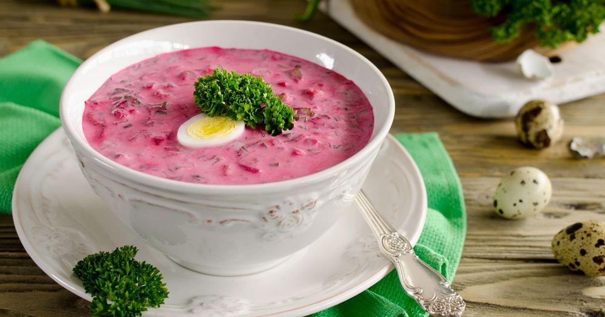 Фото Холодный свекольный суп