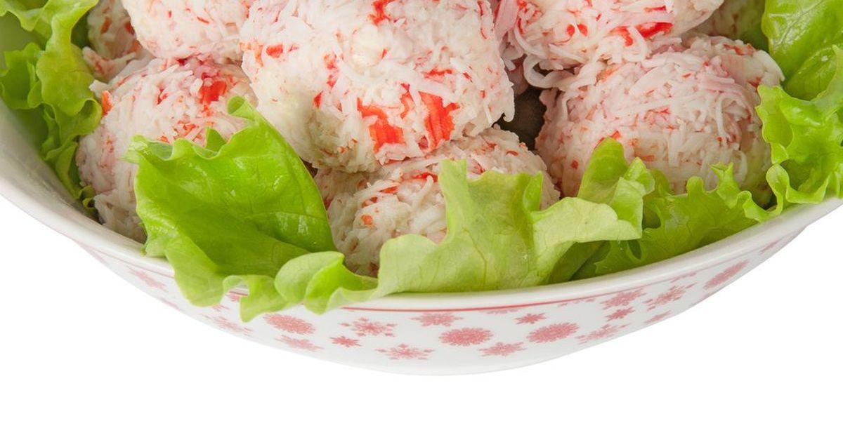 Фото Крабовый салат шариками