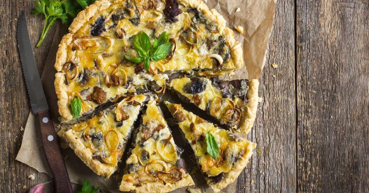 Фото Грибная пицца-пирог