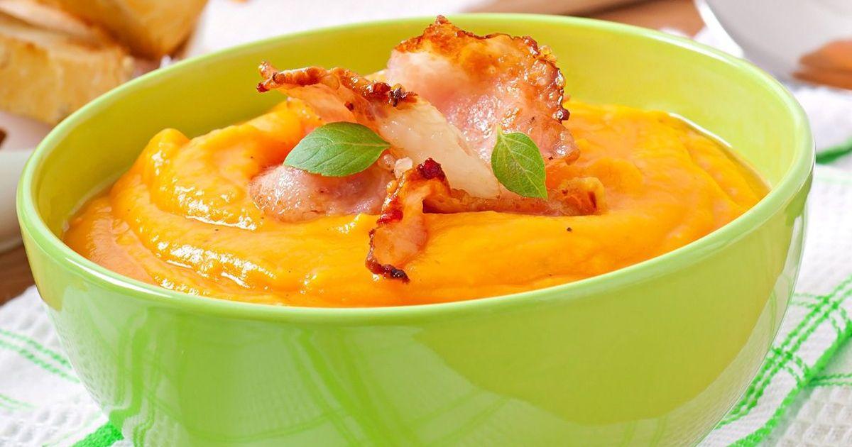Фото Тыквенный крем-суп с беконом