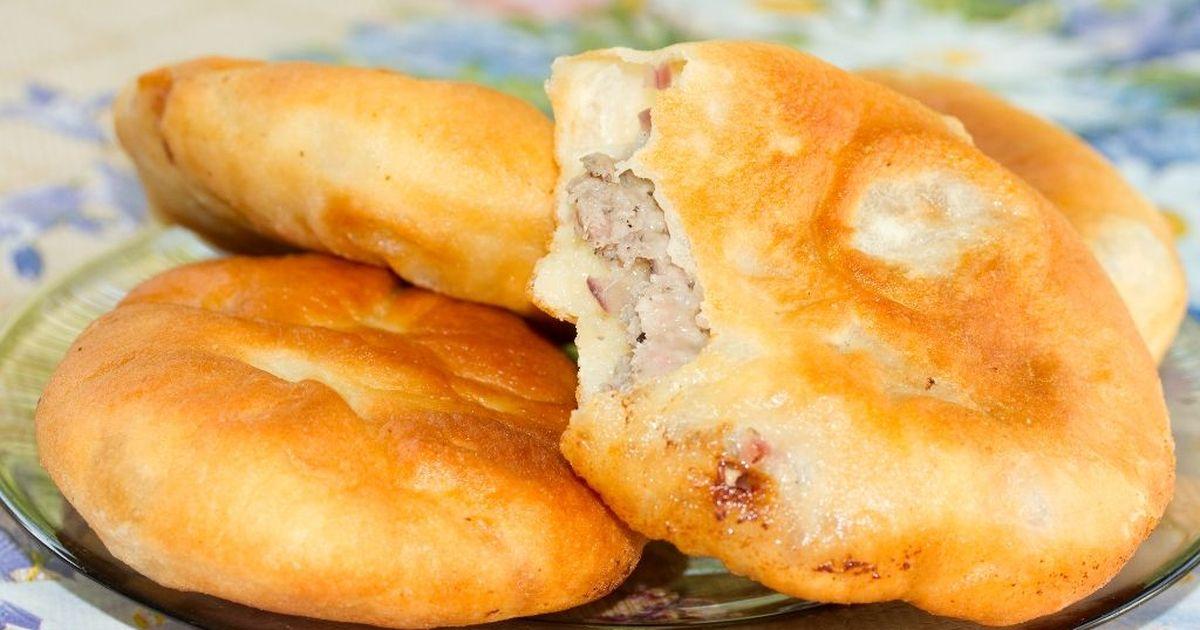 Фото Жареные пирожки с мясом