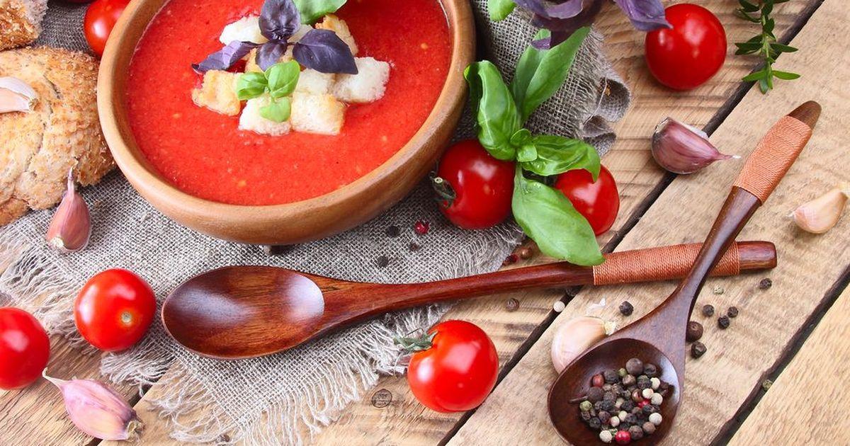 Фото Томатный суп-пюре с гренками