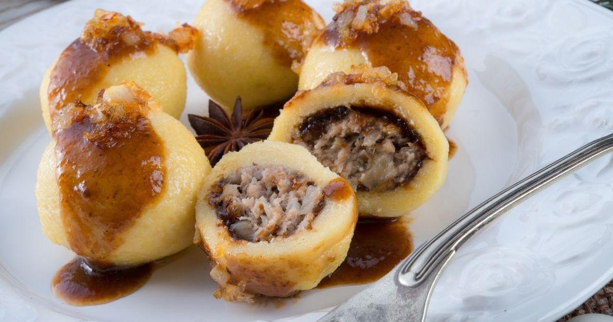 Фото Картофельные галушки с мясом