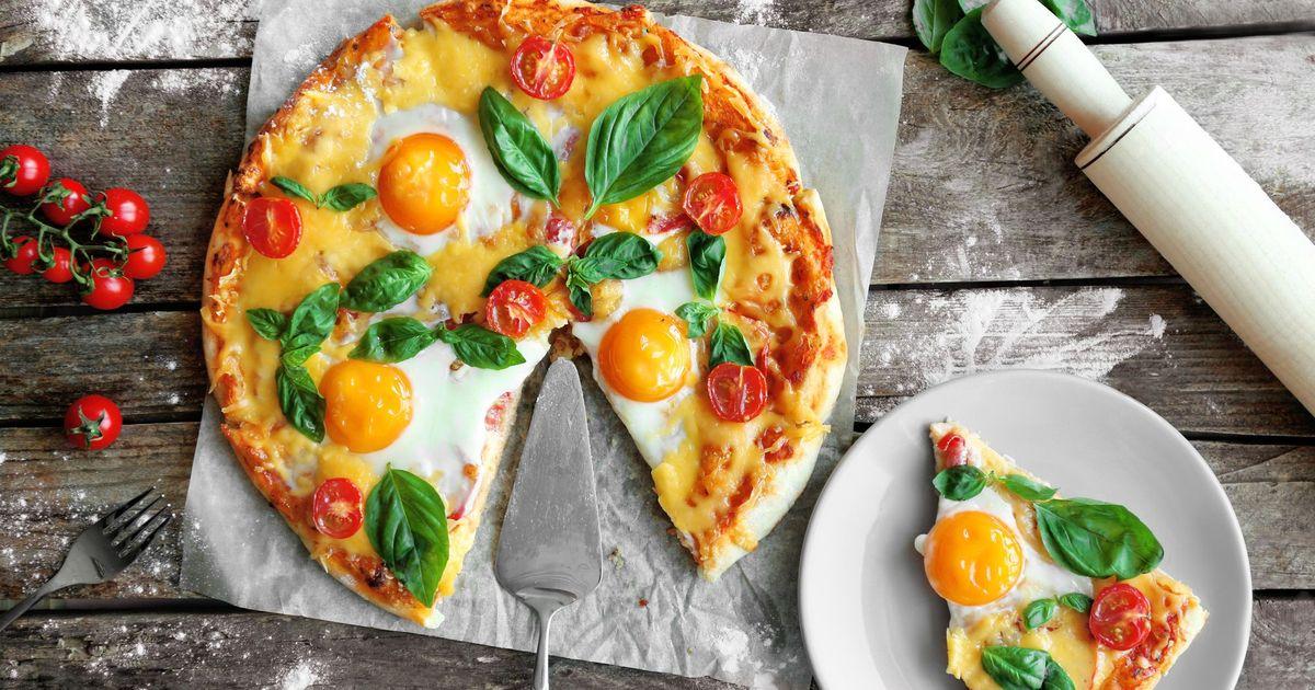 Фото Вкуснейшая пицца на завтрак