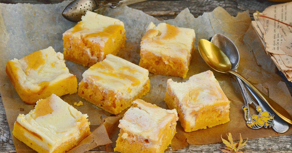 Фото Тыквенный пирог со сливочным сыром