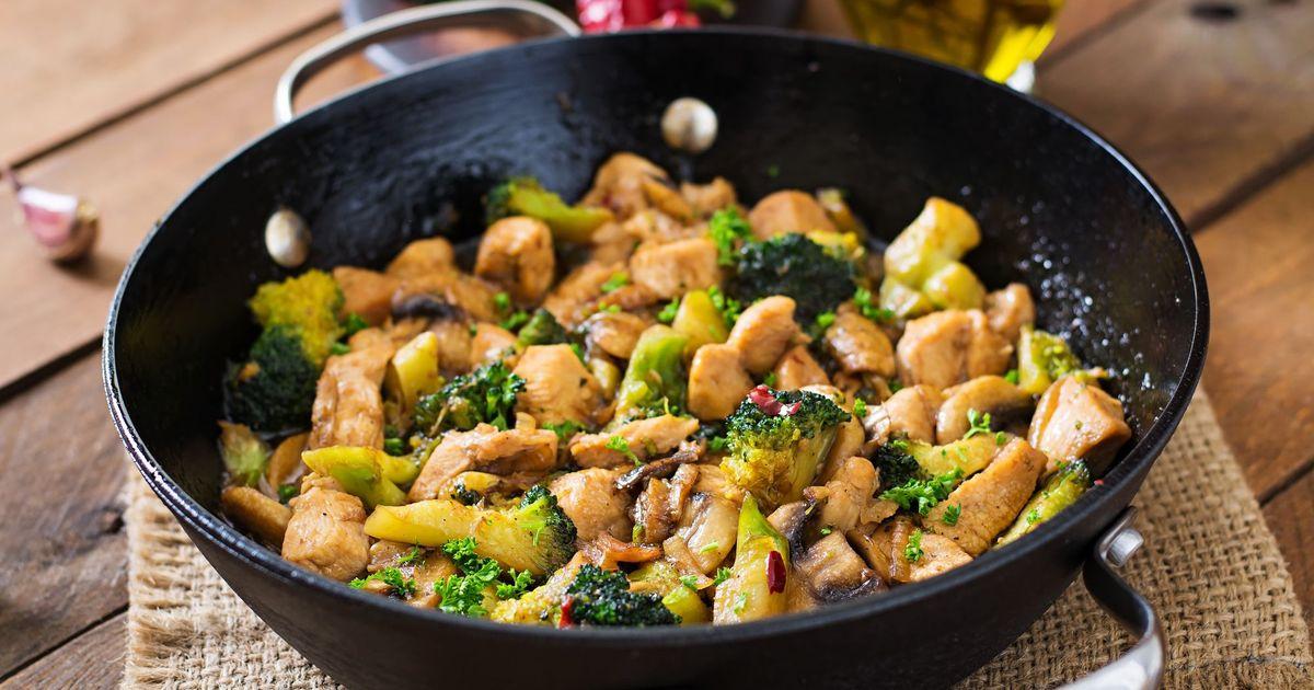 Фото Куриное филе с брокколи и грибами