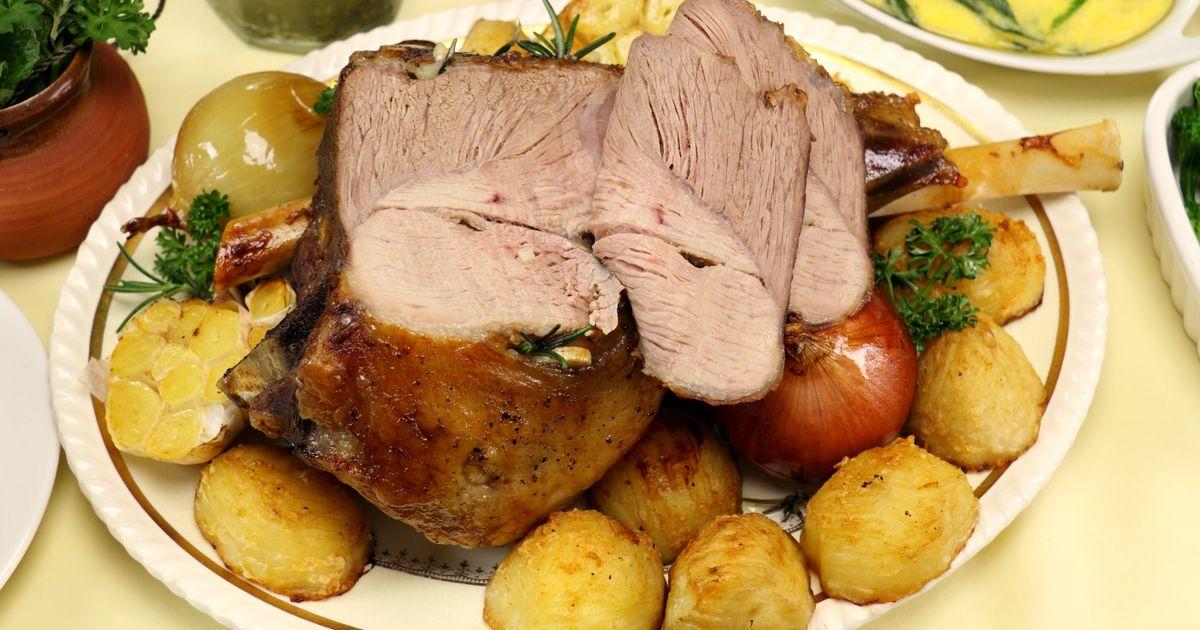 Фото Запеченная баранина с картофелем