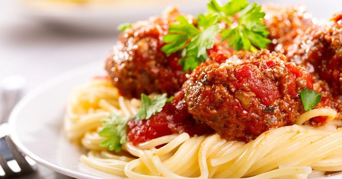 Фото Мясные шарики в томатном соусе по-итальянски