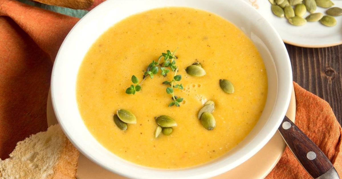 Фото Аппетитный тыквенный крем-суп