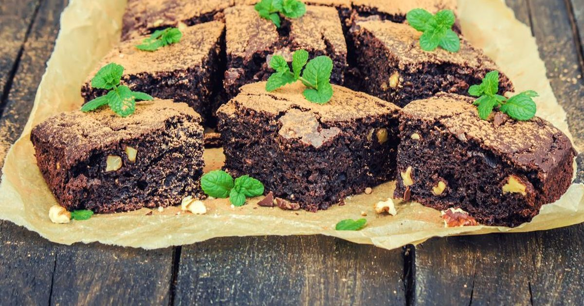 Фото Брауни с грецкими орехами