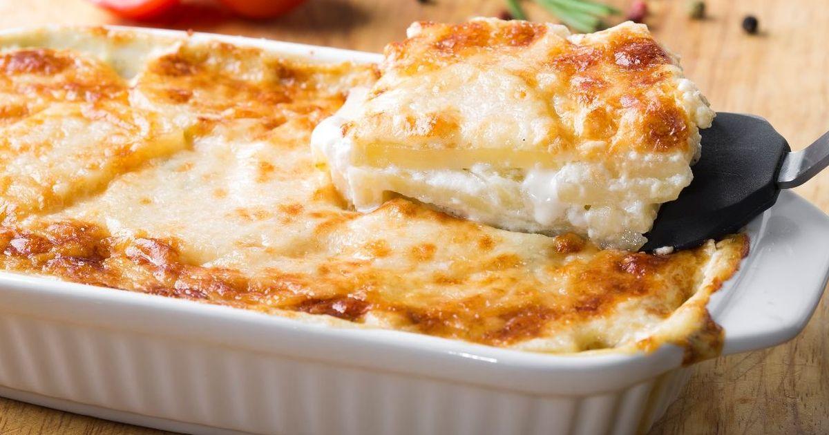 Фото Сливочная картофельная запеканка с сыром